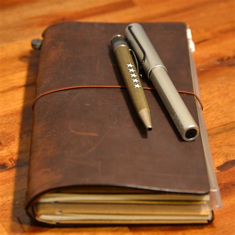 One Fifth Leather Travelers Notebook the midori traveler s notebook was my leather notebook and it s still one of my favorites