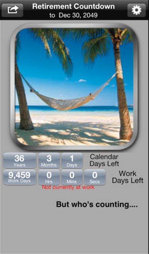 Countdown Calendar App Retirement Countdown Ad Free On The App Store On Itunes