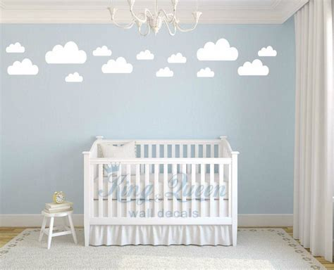wallpaper stiker dinding awan 13 clouds decal vinyl wall sticker baby nursery kids