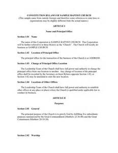church constitution template doc 638826 church bylaws template church by laws