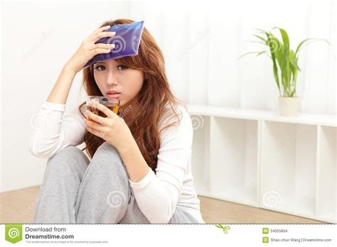 sick cold and fever stock images image