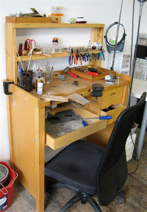 jewelry work bench for sale at work anne holman s light and airy space for designing