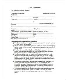 Loan Agreement Contract Template Free by Loan Contract Template 20 Free Word Pdf Documents
