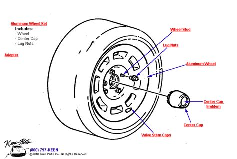 diagram of car wheel parts 1977 corvette aluminum wheel parts parts accessories
