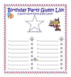 birthday gift list template sle guest list 8 documents in pdf word excel