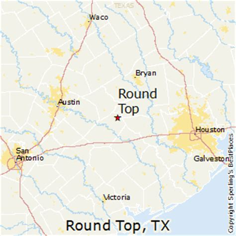 roundtop texas map top texas map my