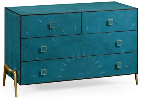 Teal Bedroom Furniture Modern Teal Dresser In Faux Shagreen