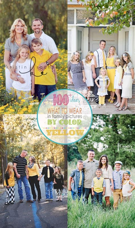 family photo color ideas family picture clothes by color series yellow capturing