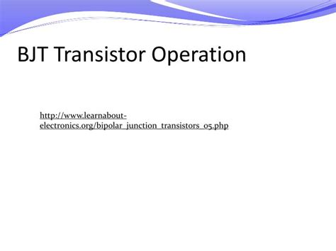 bjt transistor operation ppt me 6405 student lecture transistors powerpoint presentation id 1134078