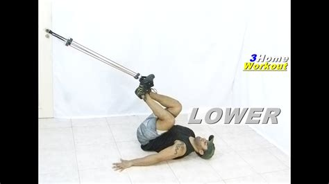 fitness at home lower abs resistance band exercise