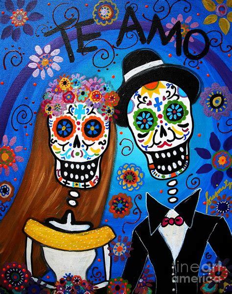 imagenes semifigurativas wedding couple painting by pristine cartera turkus
