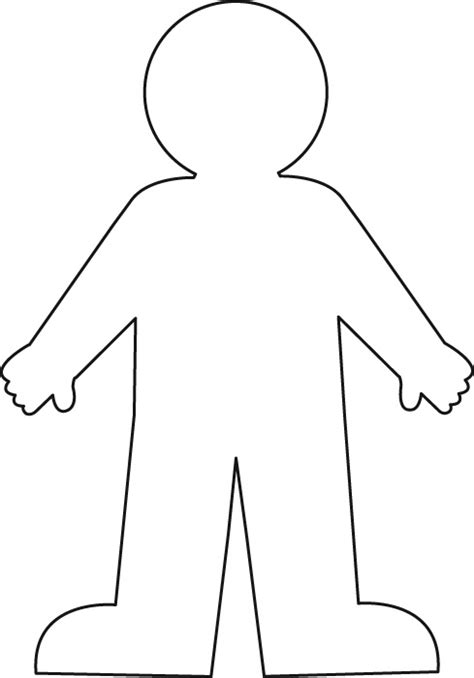 cut out person template scripture and july 2012