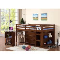 Kid Bed With Desk Low Loft Bed With Roll Out Desk