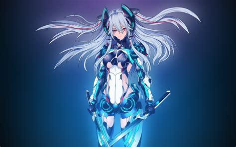 wallpaper mecha girl  anime