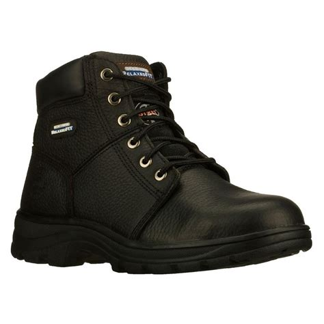 skechers work boots for skechers soft stride canopy size 15 black leather