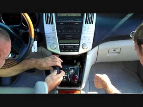 lexus rx stereo removal 2004 2009 youtube