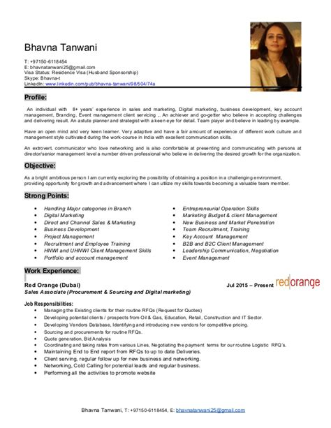 resume format used in dubai bhavna tanwani update resume 0506118454 dubai