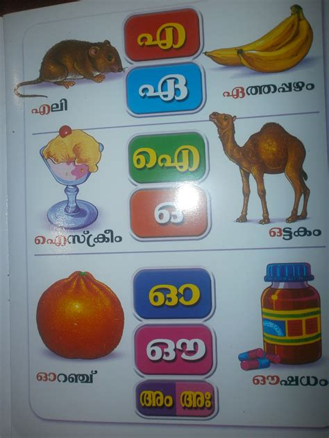 Letters And Words Letters And Words Malayalam 2 Padavali Kutti Sarva Kala