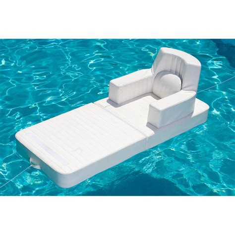 Floating Lounge Chair Design Ideas Floating Pool Lounge Chair Trona White Color Made In Italy