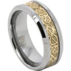 mens ring unique tungsten and gold mens ring
