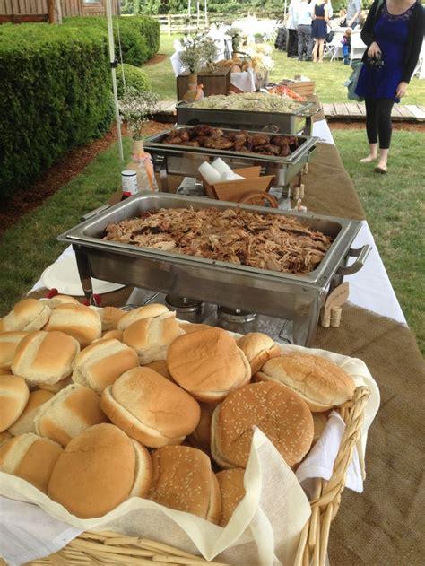 buffet table outdoor wedding catering ideas pinterest