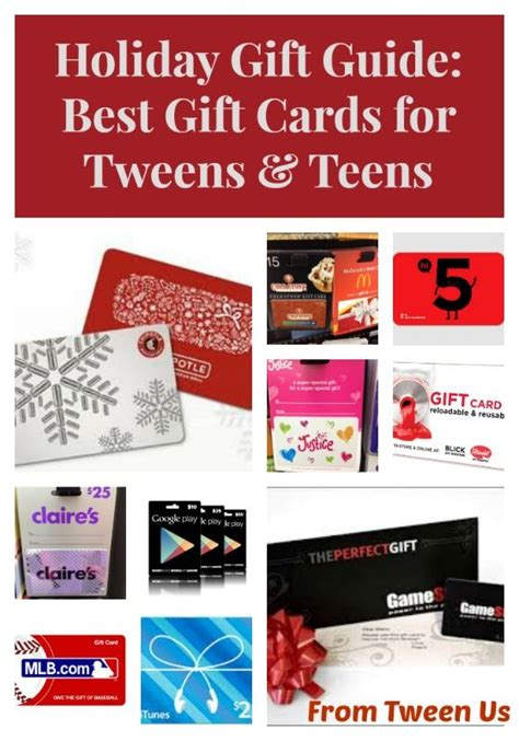 holiday gift guide best gift cards for tweens teens