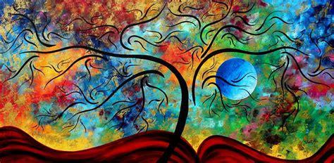 gambar lukisan bunga dan alam abstrak terbaru gambargambar co