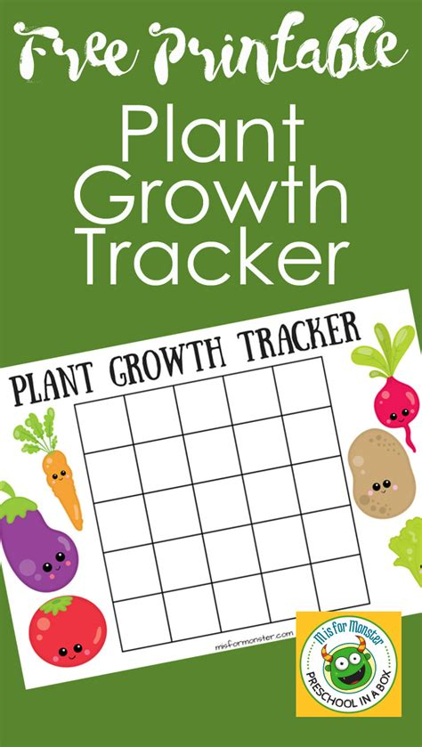 printable children s growth chart plant growth chart for kids a free printable for kids