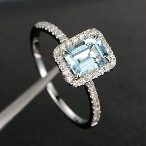 5x7mm emerald cut gemstone engagement ring by