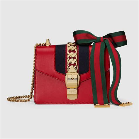 Gucci Mini Sylvie 20cm sylvie leather mini chain bag gucci s shoulder bags 431666cvleg8604
