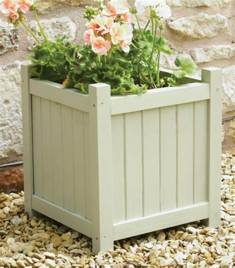 Wood Square Planter by Shabby Chic Wooden Square Planter H39cm X W36cm 163 24 99