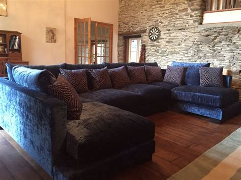 blue velvet l shaped sofa best 25 u shaped sofa ideas on