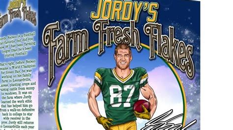 jordy nelson cereal former k state star jordy nelson has cereal named after