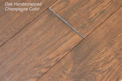 oak handscraped hardwood flooring golden color china manufacturer wood hardwood floor