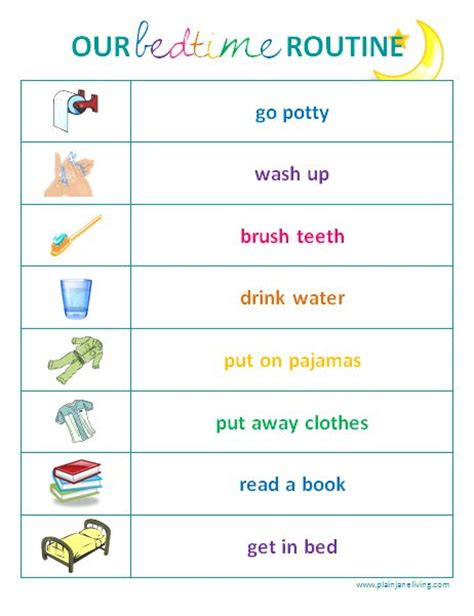 printable toddler routine chart 12 best clip art images on pinterest morning routine