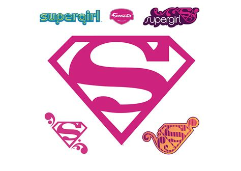 supergirl emblem template supergirl logo wall decal shop fathead 174 for supergirl decor