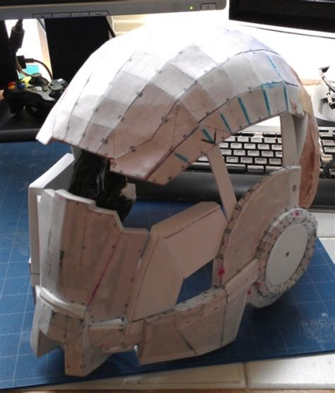 Origami Iron Helmet - beginner s guide to pepakura 171 adafruit industries