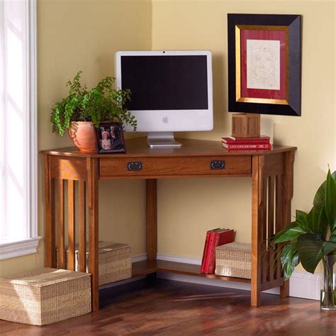 Home Decorators Collection Mission Oak Desk Ho6641 The Mission Corner Desk