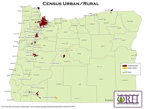 map of oregon hospitals orh maps oregon office of rural health ohsu