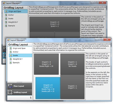 layout manager windows forms windows forms layout manager control infragistics