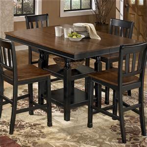 buy ashley furniture owingsville round dining room table set bringithomefurniture com signature design by ashley owingsville 8 piece square
