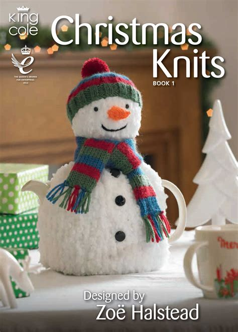 knitting pattern xmas christmas knits book 1 king cole