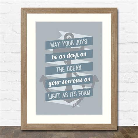Anchor Print Inspirational Print Quot - nautical wedding quotes quotesgram