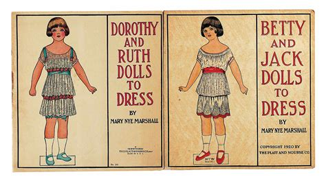 paper dolls book five books paper dolls 1790 1940 the collection of shirley fischer