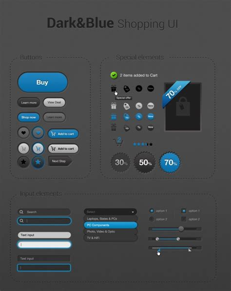 interface design template web store ui design template free