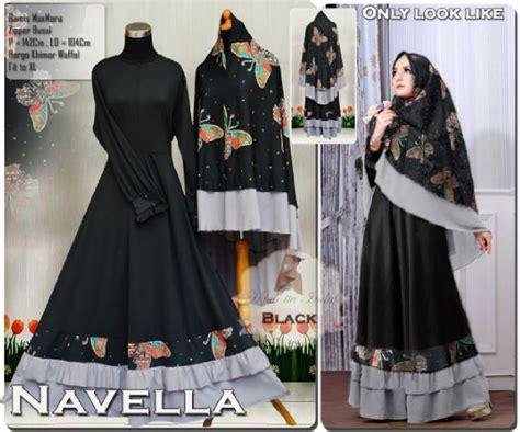 Murah Levana Maxi Gamis Muslim Bahan Maxmara Exclusive Limited Stock aprianti collection gamis navella syari black baju