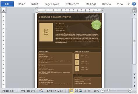 newsletter templates for books free newsletter templates