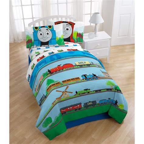 thomas the train twin bed set thomas the twin full train comforter bedding walmart com