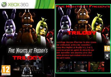 fnaf trilogy cover (xbox 360) by br4zk l3g3ndv2 on deviantart