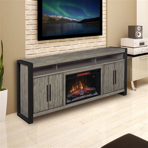grey electric fireplace costa mesa 72 in electric fireplace entertainment center